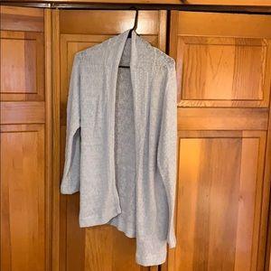 Heather grey lounge open sweater